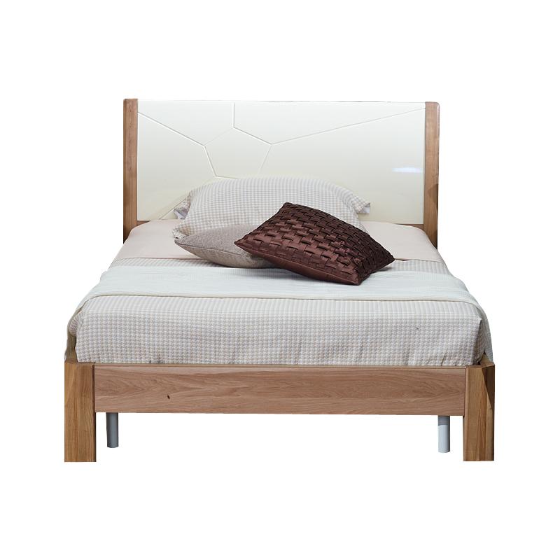 举目印象 白蜡系列1.2米床单人床  8B-10